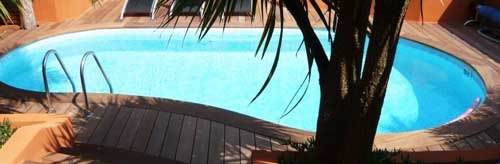 Construire Margelle piscine bois