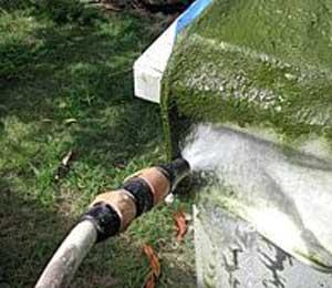 Lavage filtre poche piscine