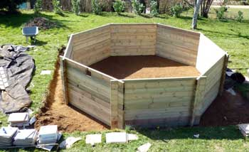 Image gallery piscine montage for Construire deck piscine