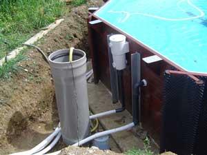 Piscine bois semi enterr e conseil astuces montage for Installation piscine bois