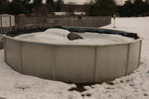 photo piscine autoportée hivernage