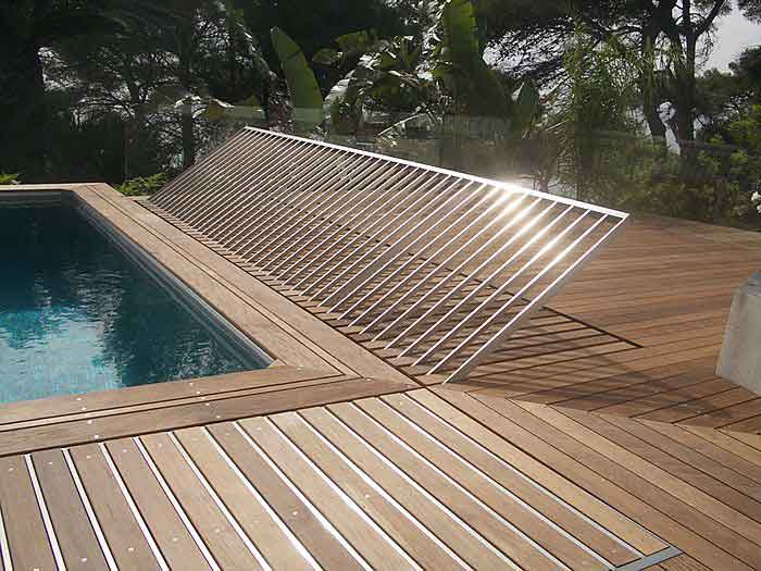 Barriere piscine terrasse bois diverses for Conception de piscine