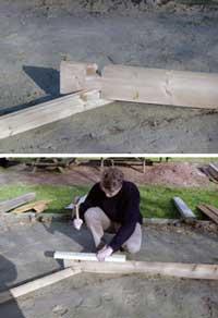 installation-madrier-piscine-bois