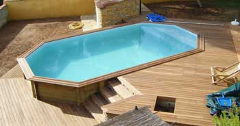 Piscine en bois quel mod le choisir en kit ou sur mesure for Piscine semi enterree 10m2