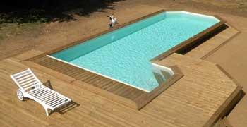 piscine en bois quel mod le choisir en kit ou sur mesure. Black Bedroom Furniture Sets. Home Design Ideas