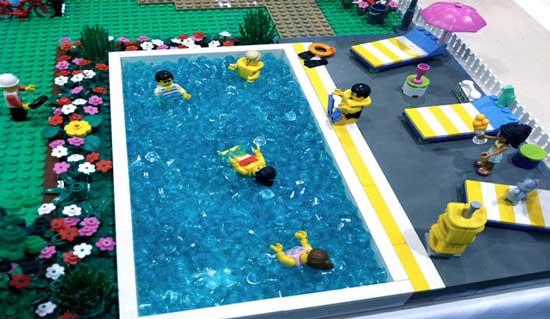 piscine lego