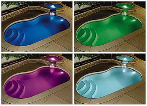 Les lumières led permettent de changer l'aspect général de son coin piscine