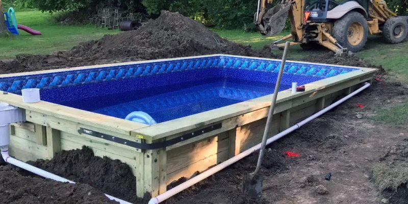 piscine bois enterree