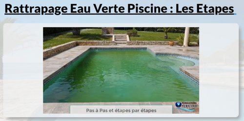 rattrapage eau verte piscine