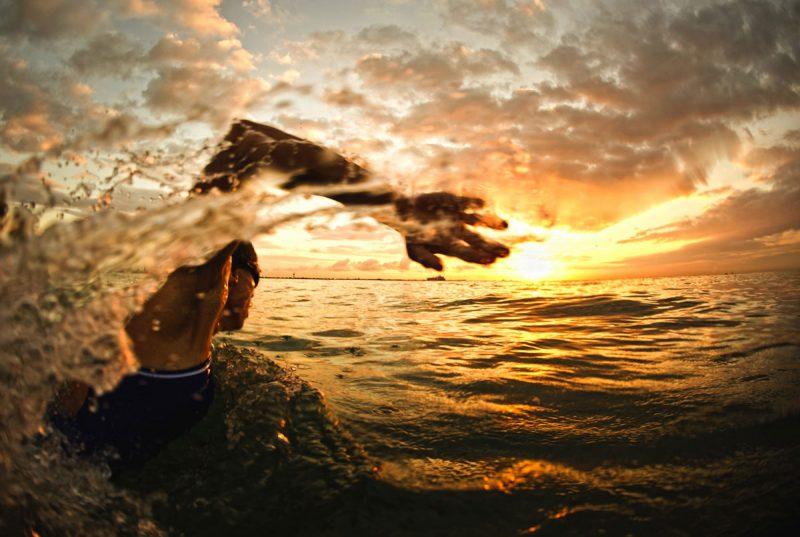 nageur matinal